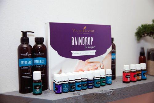 Raindrop technique for massage